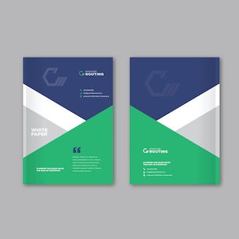 Design de capa de brochura de negócios corporativos