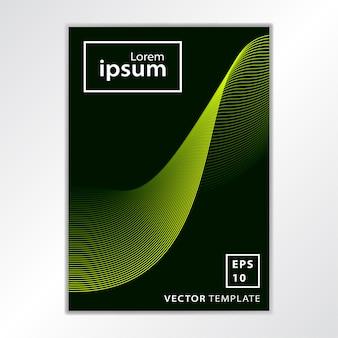 Design de capa de brochura de negócios mínimo