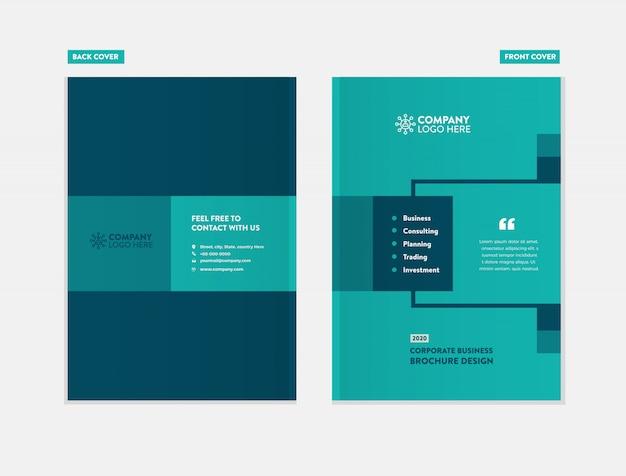Design de capa de brochura de negócios