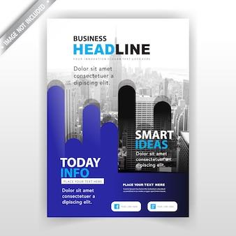 Design de capa de folheto de empresa abstrata