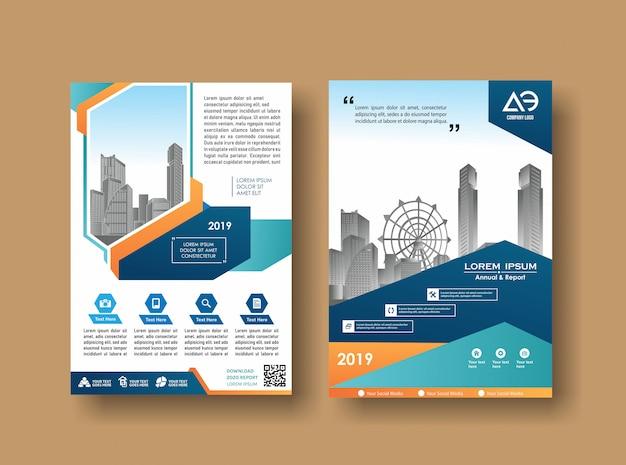 Design de capa de folheto de livro de negócios