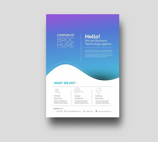 Design de capa de folheto e cartaz em ilustração de modelo de tamanho a4.