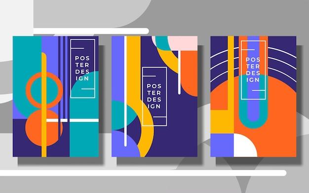 Design de capa de fundo abstrato de cor brilhante e fresca