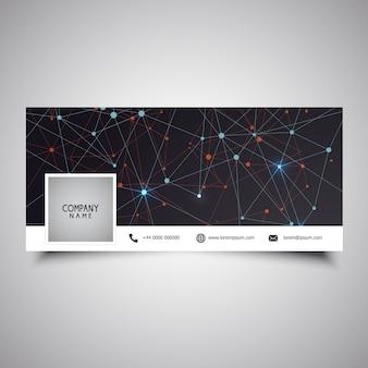 Design de capa de linha de mídia social com baixo design de poli