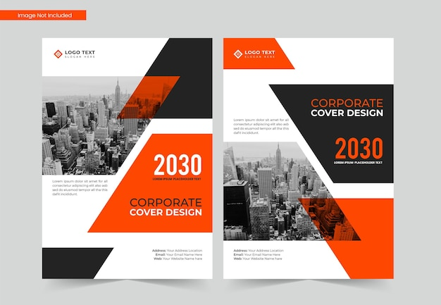 Design de capa de livro de negócios a4 corporativo, relatório anual e modelo de revista