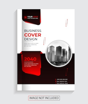 Design de capa de livro de negócios corporativos modernos criativos vetoriais