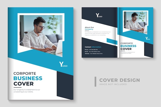 Design de capa de livro de negócios criativos design de capa de livro de perfil da empresa moderna