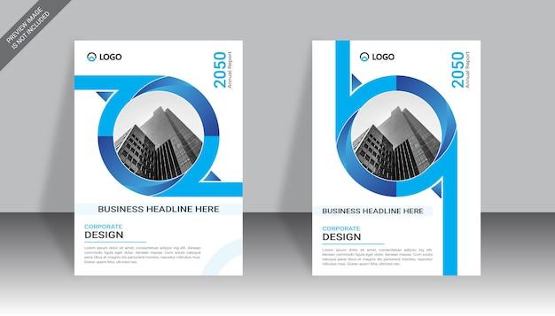Design de capa de livro de negócios moderno modelo de design de relatório anual de negócios
