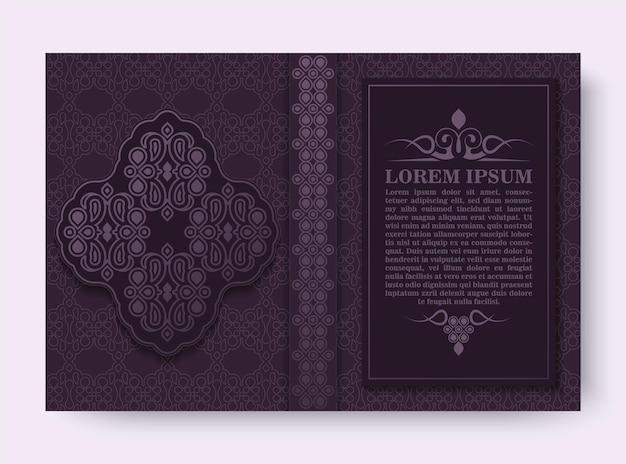 Design de capa de livro ornamental de luxo
