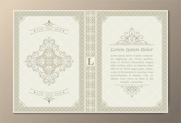 Design de capa de livro ornamental