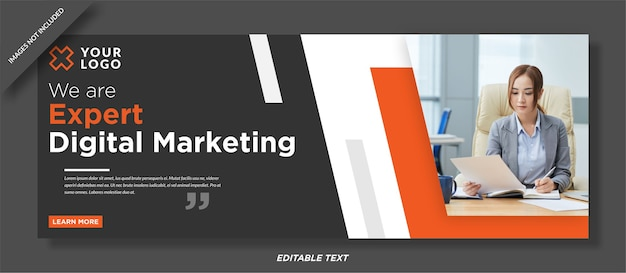 Design de capa de mídia social especialista em marketing digital