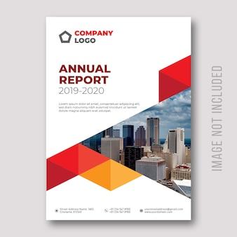 Design de capa de relatório anual
