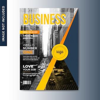 Design de capa de revista de negócios
