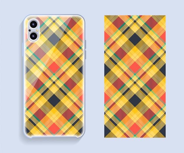 Design de capa de telefone móvel. modelo smartphone caso padrão.
