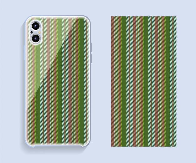 Design de capa de telefone móvel. modelo smartphone caso vetor padrão.