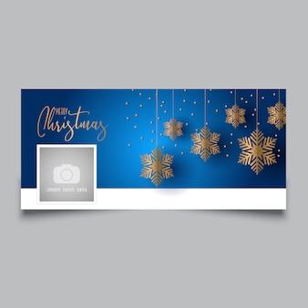 Design de capa de timeline de Natal