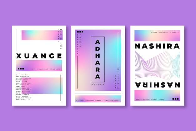 Design de capa de tons coloridos pastel gradiente