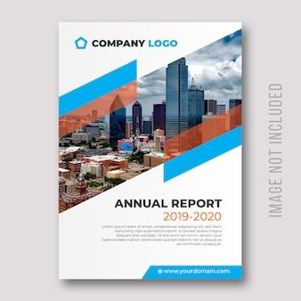 Design de capa do relatório anual corporativo