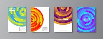Design de capa e brochura abstrata.