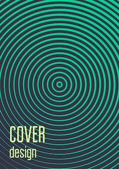Design de capa espiral moderno mínimo. cobertura geométrica mínima