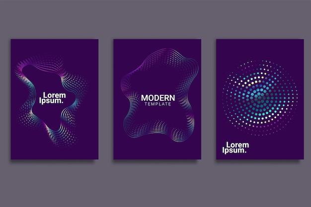 Design de capa mínima com ondas lineares gradientes abstratas