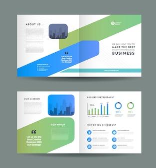 Design de capa para brochura comercial