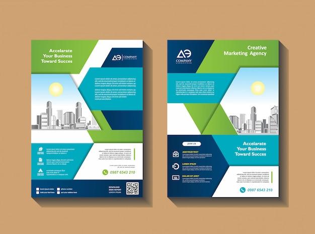 Design de capa poster a4 catálogo livro folheto panfleto layout relatório anual modelo de negócios