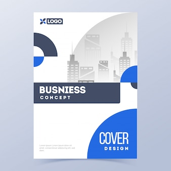 Design de capa promocional para negócios ou setor corporativo.