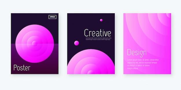 Design de capas artísticas. design mínimo de relatório anual