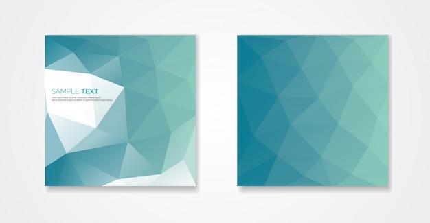 Design de capas poligonais. padrão geométrico mínimo
