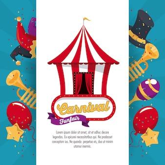 Design de carnaval feliz