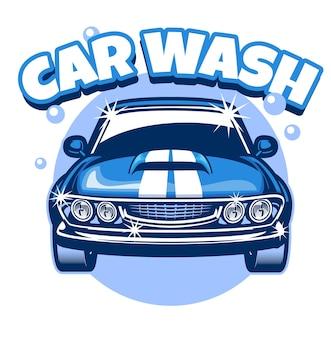 Design de carro clássico para lavagem de carros