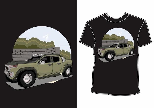 Design de carro de aventura de camiseta