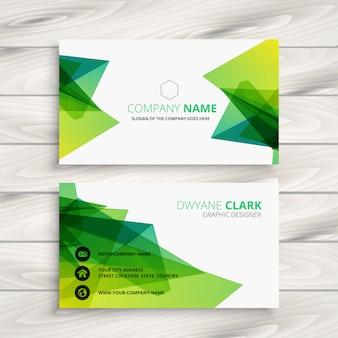Design de cartão abstrato verde