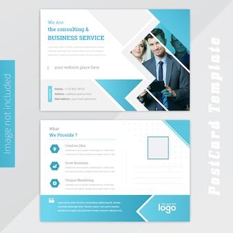 Design de cartão azul