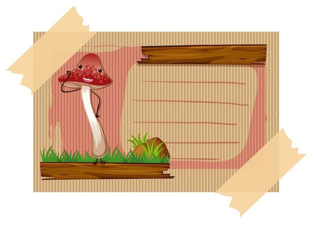 Design de cartão com cogumelo