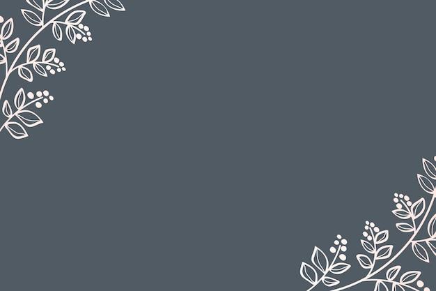 Design de cartão com moldura de folhas
