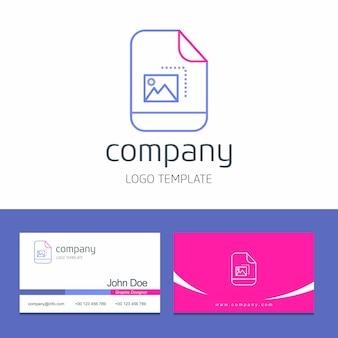 Design de cartão com vetor de logotipo de empresa de setas