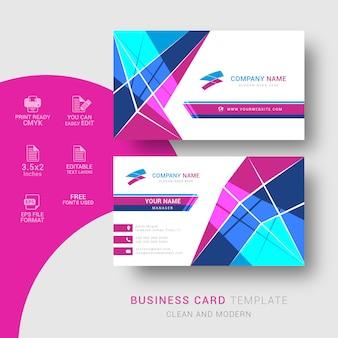 Design de cartão corporativo abstrato