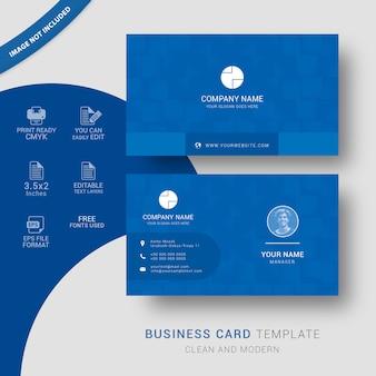 Design de cartão corporativo azul