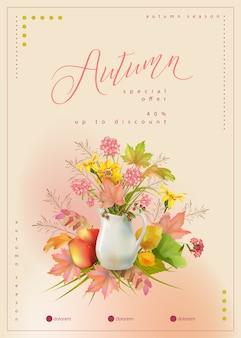 Design de cartão de agradecimento floral