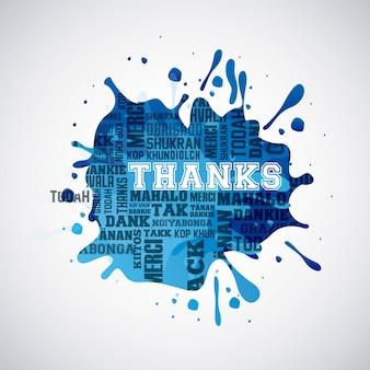 Design de cartão de agradecimento, gráfico de vetor ilustração eps10