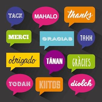 Design de cartão de agradecimento