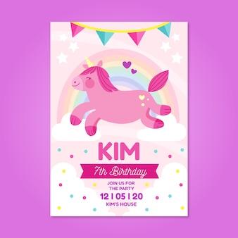 Design de cartão de aniversário para crianças