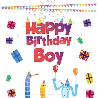 Design de cartão de aniversário