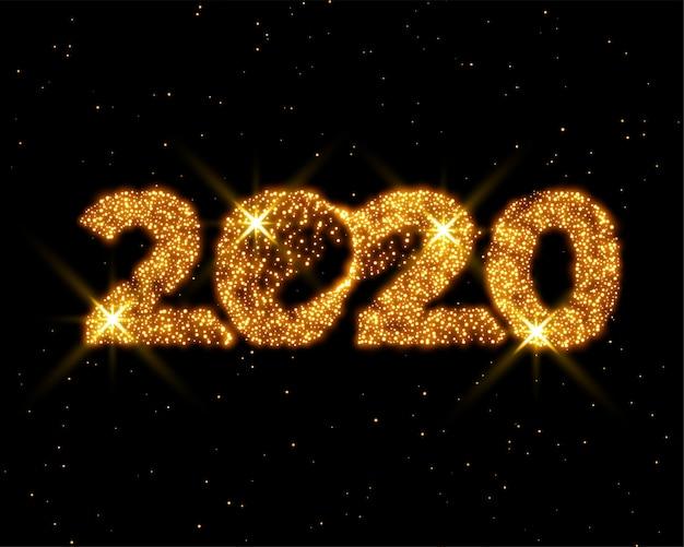 Design de cartão de ano novo brilhante brilho dourado
