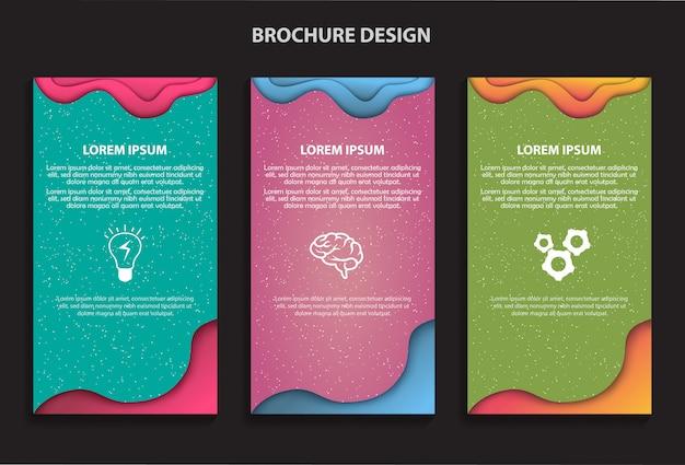 Design de cartão de brochura