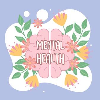 Design de cartão de campanha de saúde mental