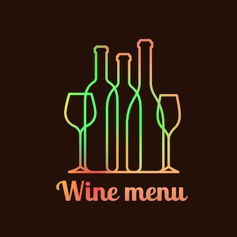 Design de cartão de carta de vinhos