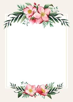 Design de cartão de casamento em branco